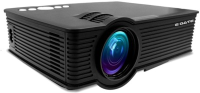 EGATE LED Projector Home Cinema Theater HDMI USB HD Portable Projector (Black)