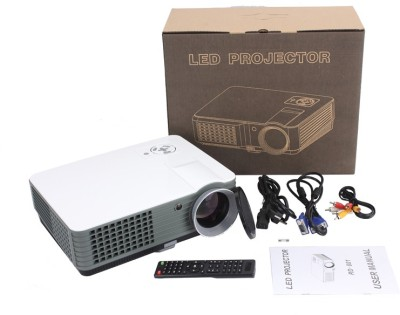 IBS 2200 Lumens Mini LED RD-801 Smart Lcd Video Home Theater 1080P Movie Player 50000/60000 Hours Life 5 Inch Displays Screen Black Portable Projector (WHITE, BLACK)