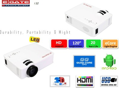 EGATE i12 Portable Projector (WHITE)