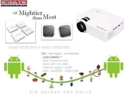 EGATE i12 Portable Projector (WHITE)