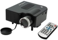 Crocon Portable Multimedia Connect With HDMI/VGA/AV/USB/SD. Portable Projector (Black)
