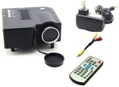 Crocon Portable Multimedia Connect with HDMI/VGA/AV/USB/SD. Portable Projector (Black)
