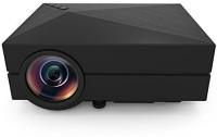 Crocon Original 1000 Lumens HDMI USB VGA TV Home Theater Portable Projector (Black)
