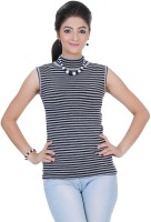 Renka Round Neck Striped Women's Pullover