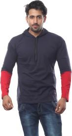V3Squared Round Neck Solid Men's Pullover