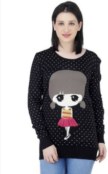 Icable Round Neck Graphic Print Women's Pullover