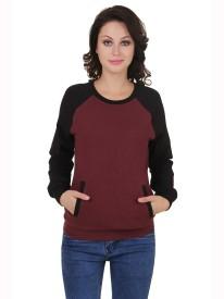 Cherymoya Round Neck Solid Women's Pullover