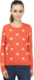 Global Republic Round Neck Geometric Print Women's Pullover