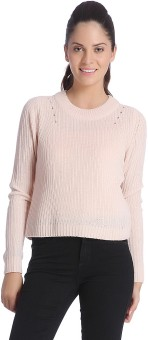 Only Round Neck Solid Women's Pullover