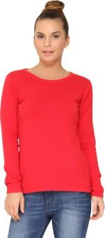 Amari West By INMARK Round Neck Solid Women's Pullover