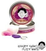 Crazy Aaron's Putty World Crazy Aaron's Putty World Arctic Flare w/ Blacklight Keychain Putty Purple Putty Toy