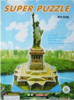 Hrinkar Junior Puzzles 3d Paper Statue Of Liberty Xy-536 Toy For Kids (63 Pieces)