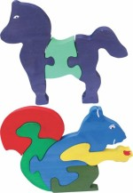 Enigmatic Woodworks Puzzles Enigmatic Woodworks Wooden Jigsaw Puzzle Horse + Squirrel