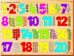 Kinder Creative Puzzles Kinder Creative Number with Picture with Knobs