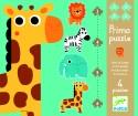 Djeco Primo Puzzle - In The Jungle - 18 Pieces