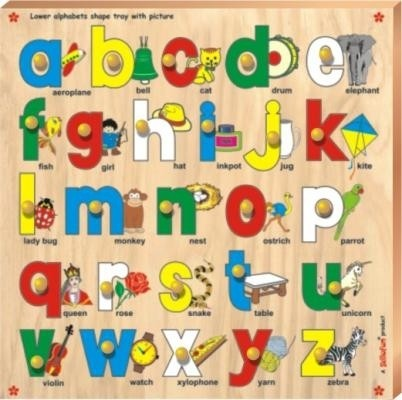 Buy Skillfun Lower Abc Alphabet Shape Tray with Picture Knobs 36