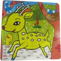 DCS DCS Creative Wooden Deer Puzzle (6X6 IN) (17 Pieces)
