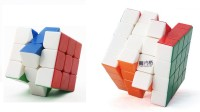 Emob Magic Rubik Cube Puzzle Combo (3x3x3 & 4x4x4x4) (2 Pieces)