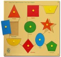 Skillofun Skillofun Large 'Shapes' Shape Tray - Triangle - 50 Pieces