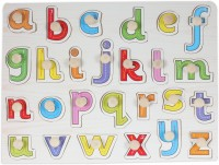Baybee Wooden Alphabet Puzzle With Knobs (Small Letters) (26 Pieces)