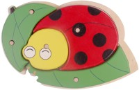 Pigloo Lady Bug Shape Wooden Knob Puzzle (5 Pieces)