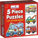Creative's 5 Piece Puzzles - 20 Pieces