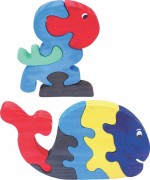 Enigmatic Woodworks Puzzles Enigmatic Woodworks Wooden Jigsaw Puzzle Parrot + Whale