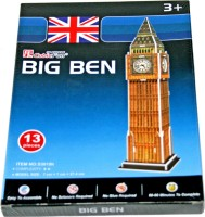 AdraXx Beginner's Educational 3D Board London Big Ben Tower Clock Modeling Kit (13 Pieces)