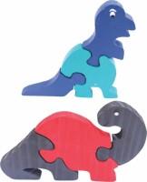 Enigmatic Woodworks Wooden Jigsaw Puzzle Dinosaur + Dinosaur (CN) (2 Pieces)