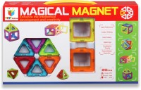Toys Bhoomi 20 Piece Magical Magnetic Building Blocks Construction Learning Educational Toy (20 Pieces)