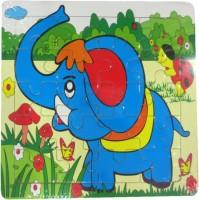 DCS DCS Creative Wooden Tortoise Elephant Puzzle (6X6 IN) (17 Pieces)