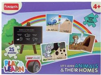 Funskool Funskool Play And Learn Puzzle - Lets Learn Animals And Their Homes (25 Pieces)