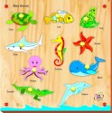 Kinder Creative Water Animals With Knobs - 10 Pieces