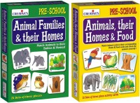 Creative's Animal Families & Their Homes & Animals, Their Homes & Food (84 Pieces)
