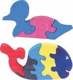 Enigmatic Woodworks Puzzles Enigmatic Woodworks Wooden Jigsaw Puzzle Duck + Whale