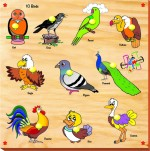 Kinder Creative Puzzles Kinder Creative Birds with Knobs