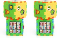 Shop & Shoppee Combo Of Play And Learn All In One Cubes Game (12 Pieces)