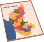 Kidken Puzzles Kidken Montessori Map Puzzle : Karnataka