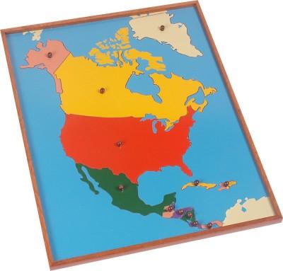 Kidken Puzzles Kidken Montessori Map Puzzle: North America