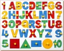 Little Genius English Alphabet With Numbers And Shapes - 40 Pieces