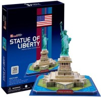 Frank 3D Puzzle Cubic Fun Statue Of Liberty (39 Pieces)
