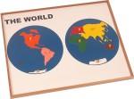 Kidken Puzzles Kidken Montessori Map Puzzle: World