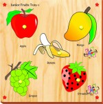 Kinder Creative Puzzles Kinder Creative Junior Fruits with Knobs