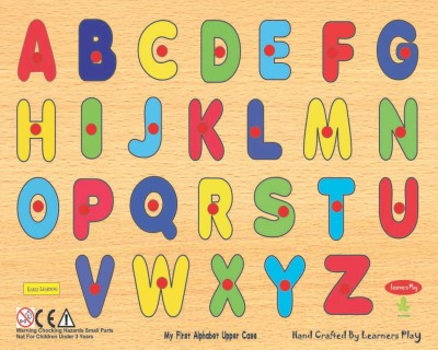 Learner's Play Puzzles Learner's Play Wooden Upper Case Alphabet Puzzle