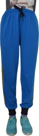 Shaun Solid Women's Light Blue Track Pants
