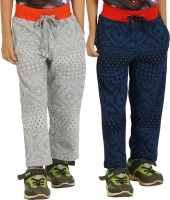 Shaun Solid Baby Boy's Grey, Dark Blue Track Pants