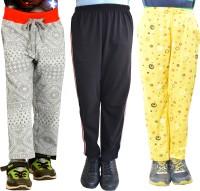 Shaun Printed Baby Girl's Grey, Black, Yellow Track Pants