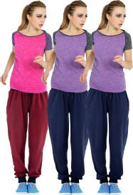 RIPR Self Design Women's Maroon, Dark Blue Track Pants