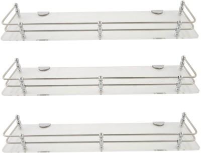 Dolphy-Shelf-15x5-Inch-Set-Of-3-Microfibre,-Stainless-Steel-Wall-Shelf