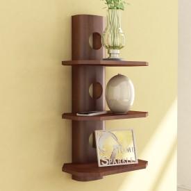 Home Sparkle 3 Tier Wall Shelf Wooden Wall Shelf